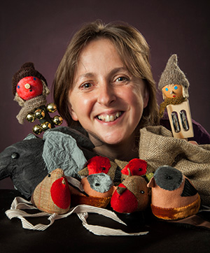 Ailie Finlay with puppets