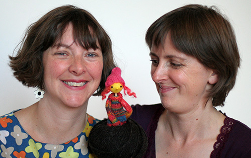 Marie and Ailie with puppet